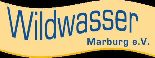 Logo: Eine hellorange Welle mit Schriftzug Wildwasser Marburg e.V.